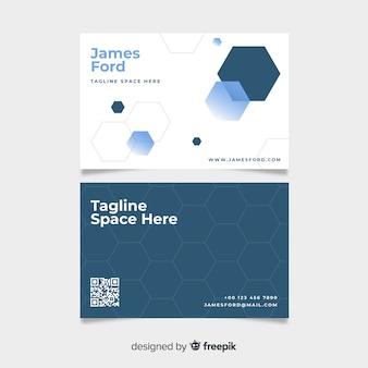 Визитная карточка с дизайном в виде сот