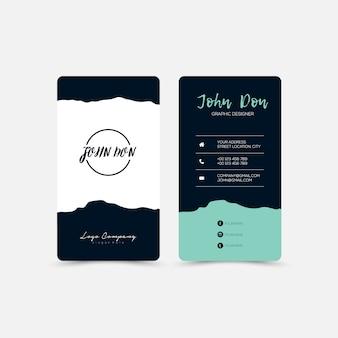 Business card with irregular design
