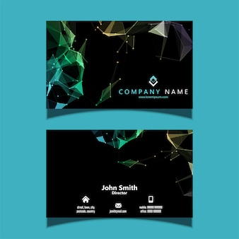 Business card with a low poly design