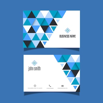 Business card with a low poly style