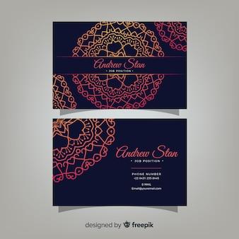 Визитная карточка с концепцией мандалы