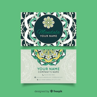 Business card with mandala concept