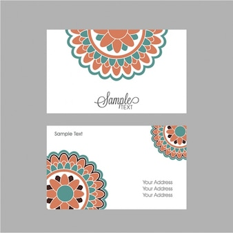Business card with mandala in pastel colors