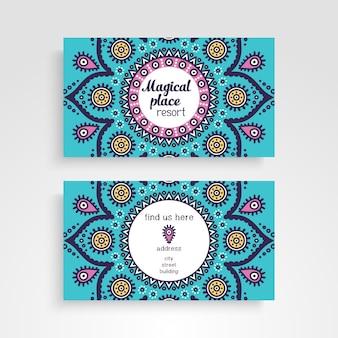 Business card with mandala