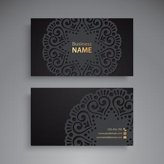 Визитная карточка с мандалой