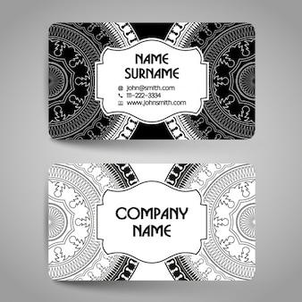 Business card with mandalas