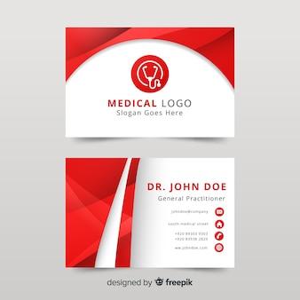 Визитная карточка с медицинской концепцией в современном стиле