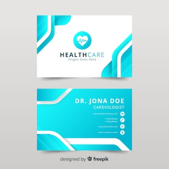 Medical business card vectors photos and psd files free download business card with medical concept in professional style colourmoves