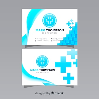 Business card with medical concept in professional style
