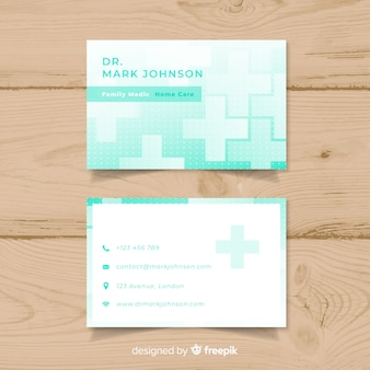 Business card with medical concept