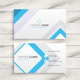 Business card with minimal design