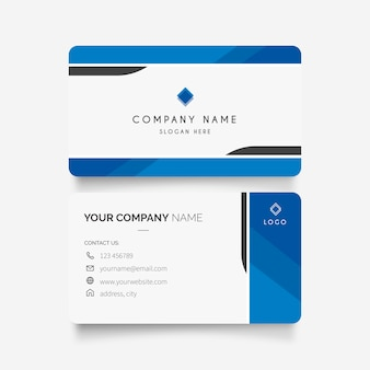 Business card with modern design