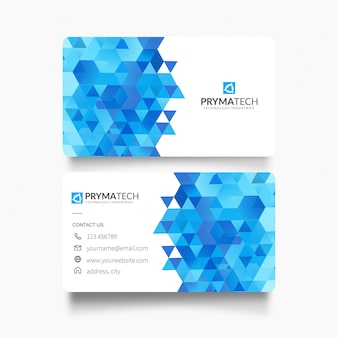 Business card with modern shapes