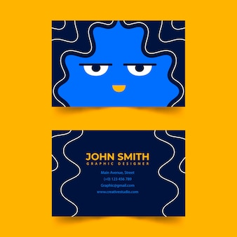 Business card with monday face template