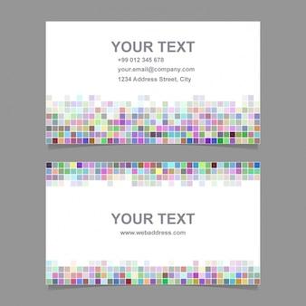 Biglietto da visita con forme multicolori pixelated