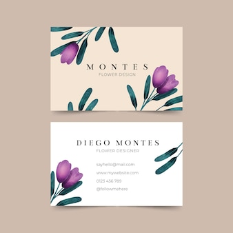 Business card with natural motifs collection