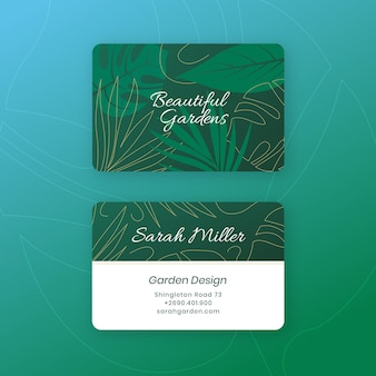 Business card with natural motifs