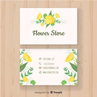 Business card with nature concept