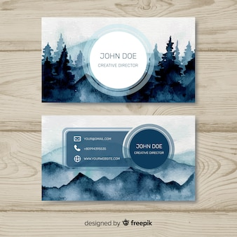Business card with nature design