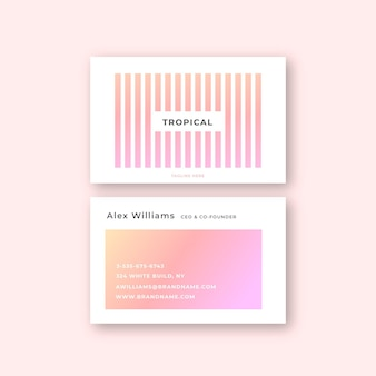 Business card with pastel color