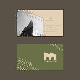 Business card with photo abstract design