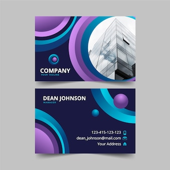 Business card with photo abstract style