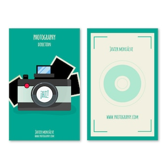Business card with photo camera