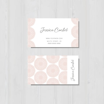 Business card with pink laces