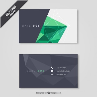 Business card with polygons Free Vector