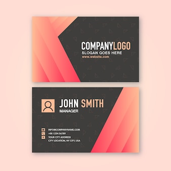 Business card with red gradient