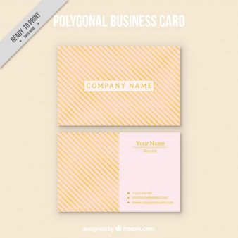 Business card with striped background