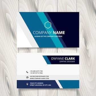 青い色調のストライプのビジネスカード