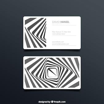 Визитная карточка с полосами