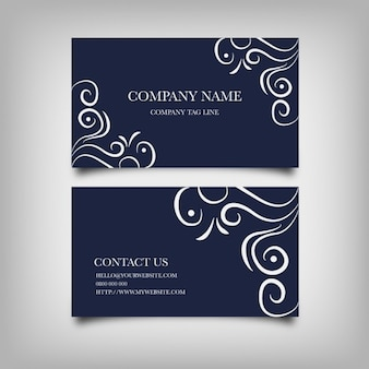 Business card with swirls