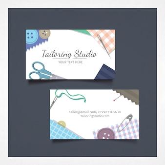 Business card with tailoring studio design