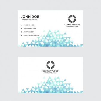 Business card with triangles