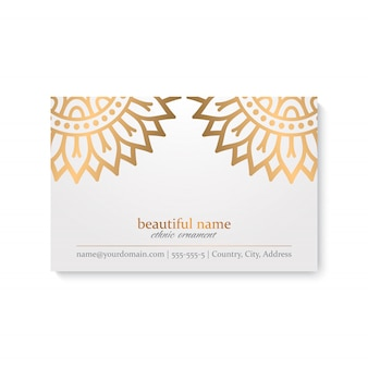 Business card with vintage decorative elements