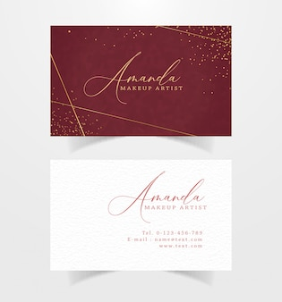 Business card with watercolor background