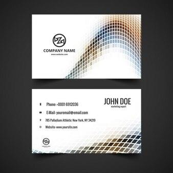 Mosaicalスタイルで波のビジネスカード