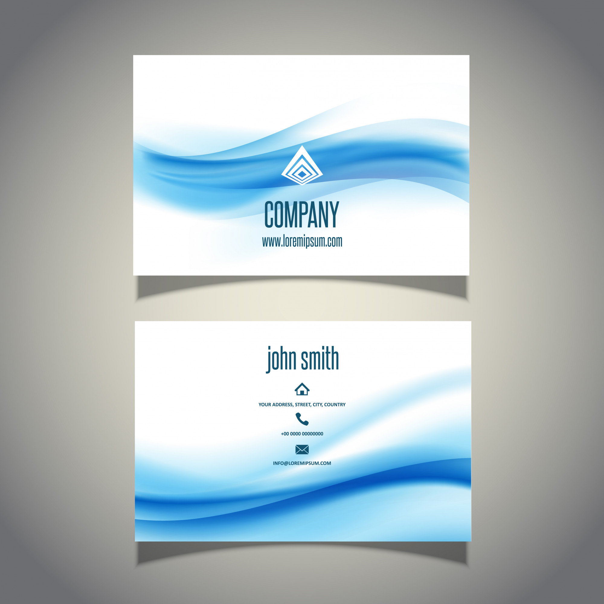 Business card with waves design