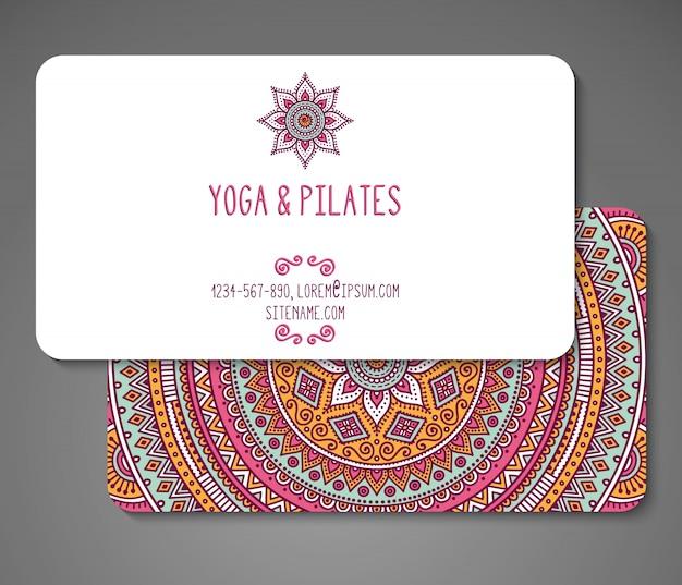 Business card for yoga teacher