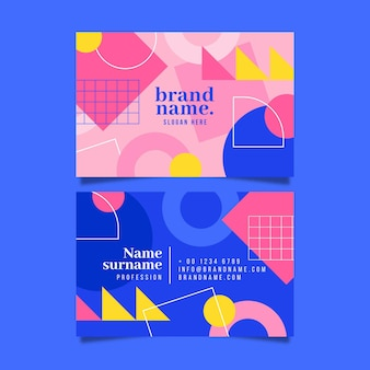 Business cards geometric design