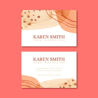 Business cards hand painted design