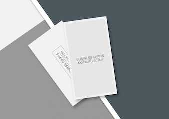 Business  cards mockup vector