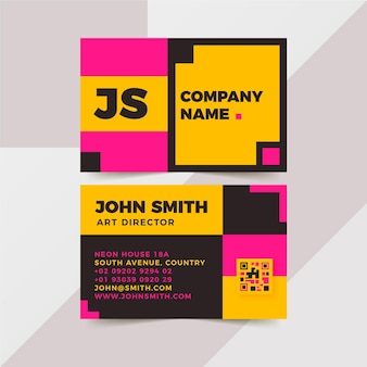 Business cards neon design