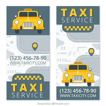Business cards for a taxi company