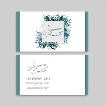 Business cards template berries