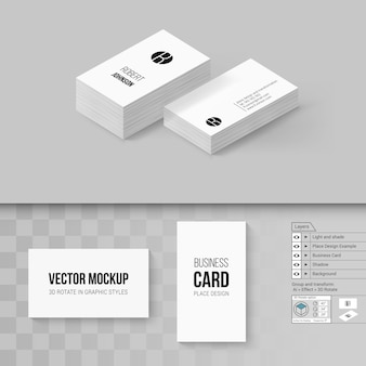 Business cards template. branding  with rotate options