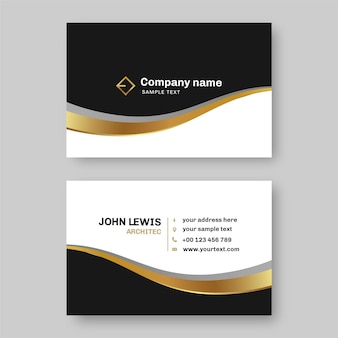 Business cards template with logo