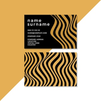 Business cards with disorted lines concept